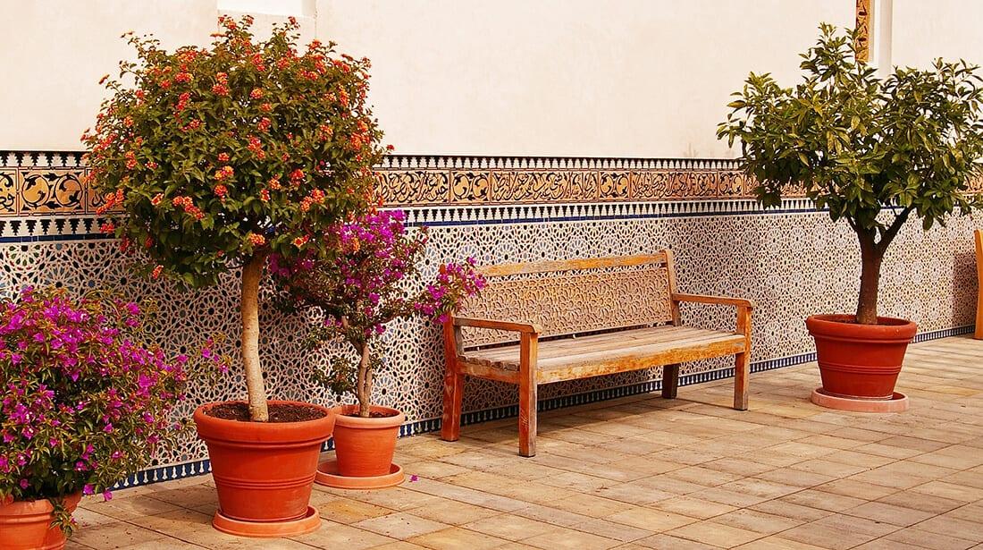 Pflanzgefäße im orientalischen Stil