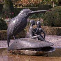 Bronze Brunnen Figur