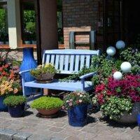 Pflanzen in Kübeln können jederzeit umpositioniert werden