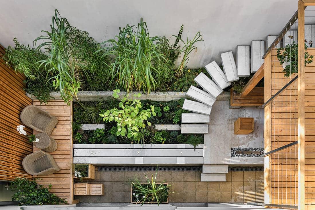 Kleiner Garten von oben