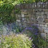 Natursteinmauer im mediterranen Garten