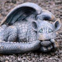 Drachenfigur für den Garten