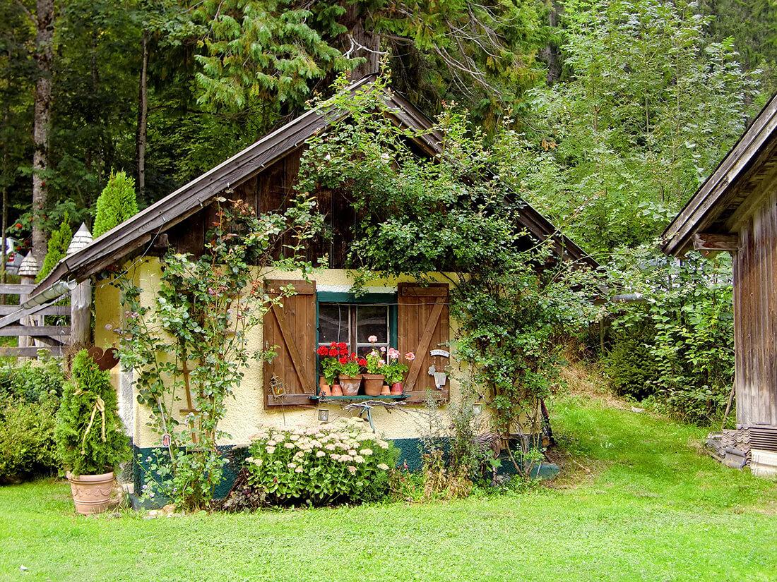 Gartenhaus aus Stein