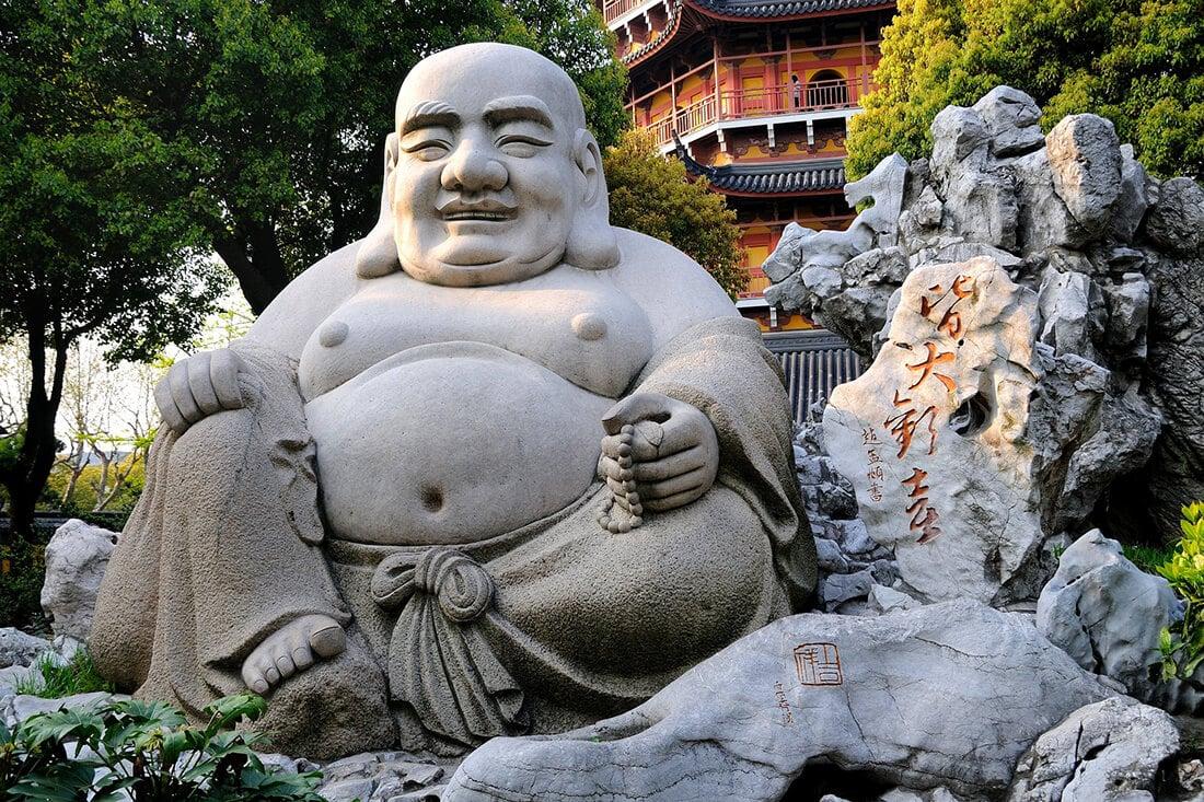 Lebensgroße Buddha-Figur