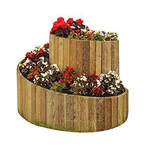 Eine Grafik zu Kräuterspiralen aus Holz