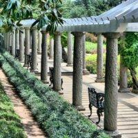 Gartenweg überdacht mit einer langen Pergola © Pixabay.com