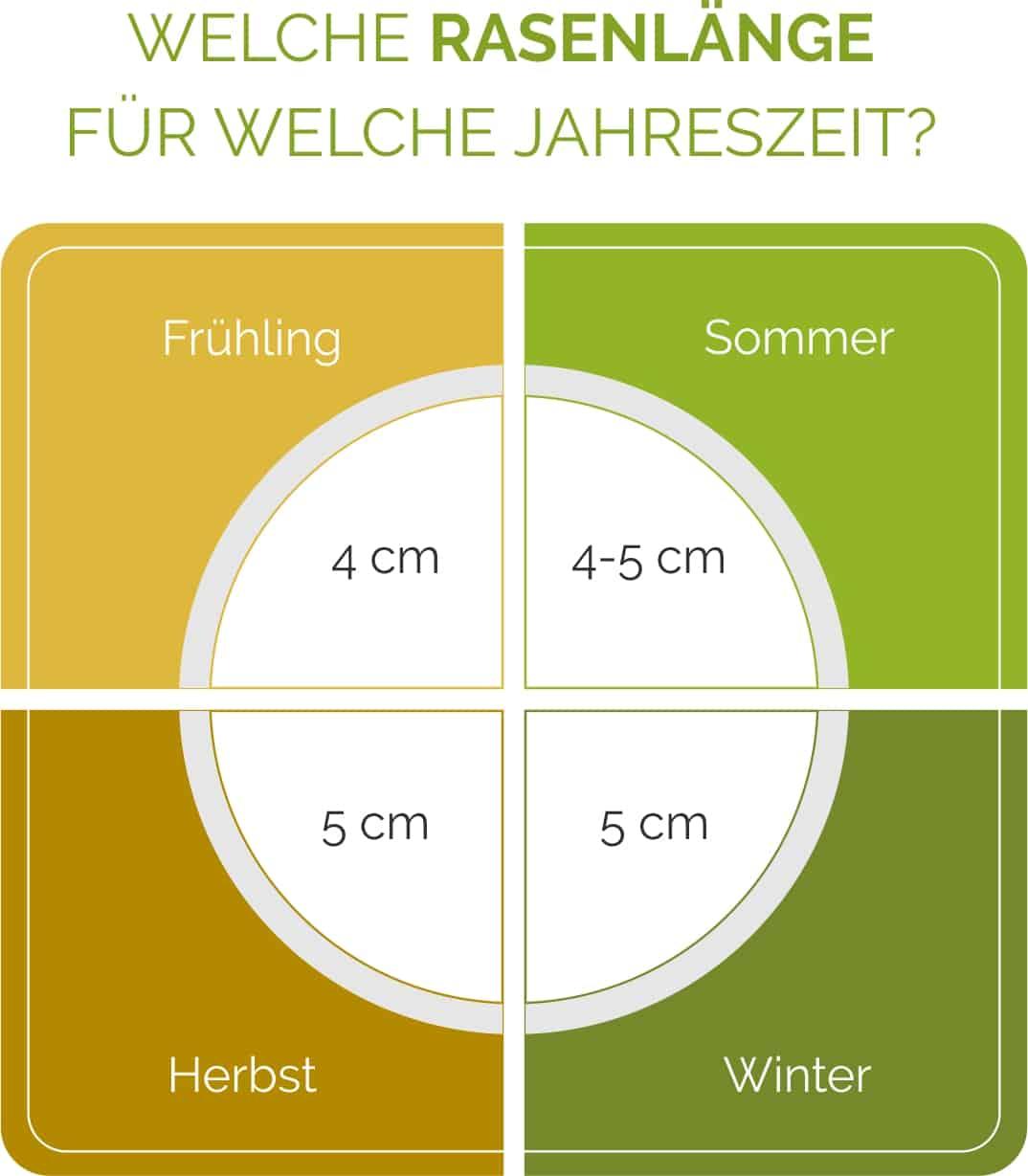 Die optimale Rasenlänge je nach Jahreszeit im Überblick