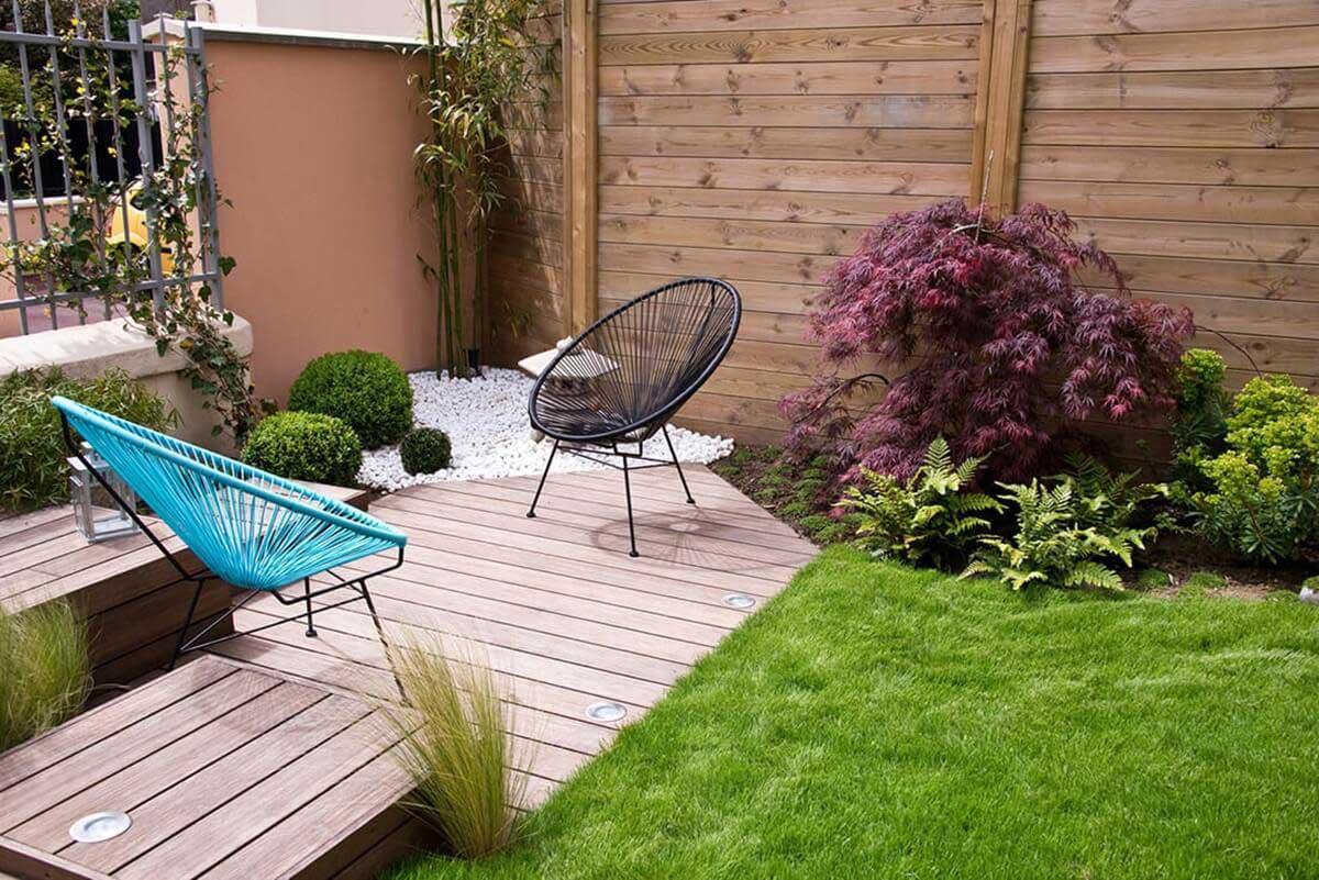 Terrassen-Sichtschutz aus Holz