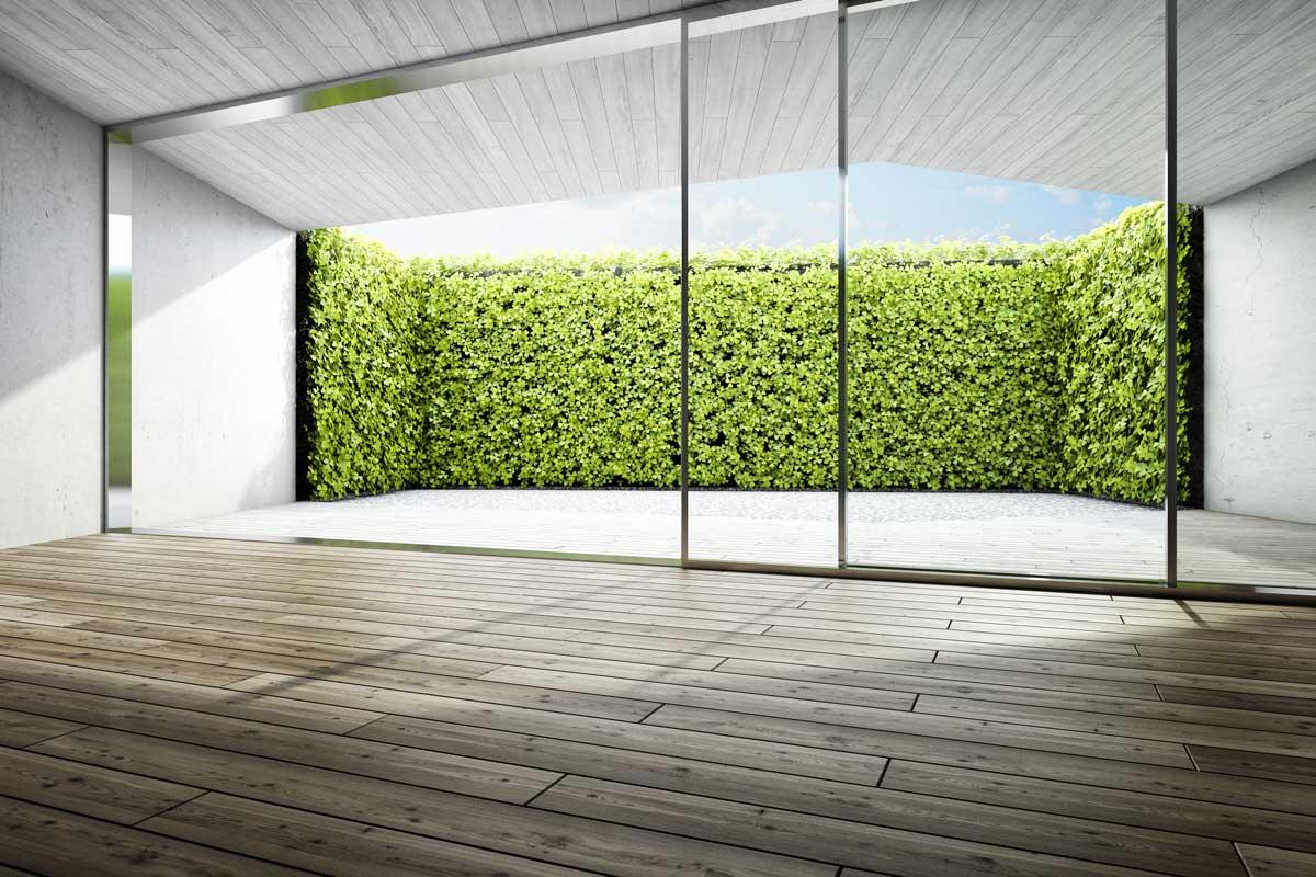 Moderne Terrassengestaltung mit Sichtschutz