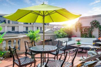 Eine Grafik zu Sonnenschutz für den Balkon