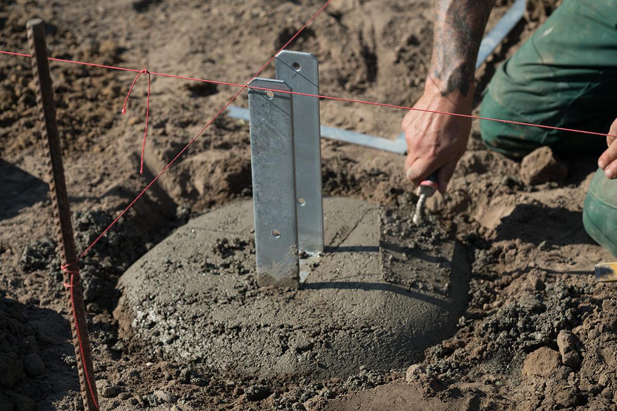 Stabiles Fundament für einen Carport