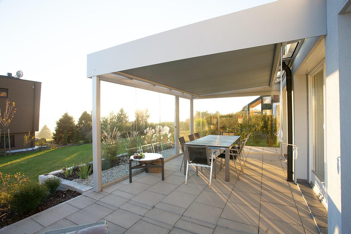 Moderne Terrassenüberdachung