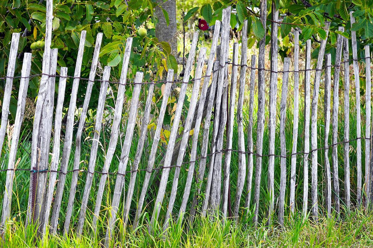 Gartenzaun als Staketenzaun