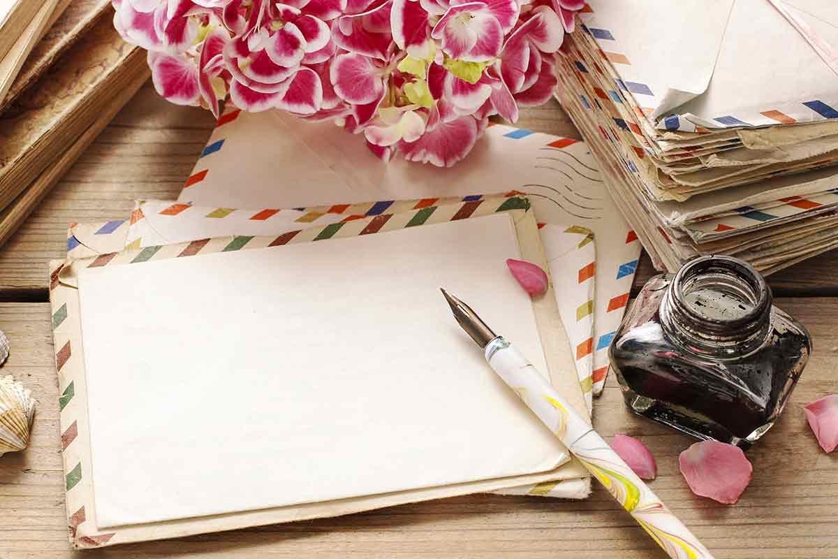 Glückwünsche zur Geburt mit Füller klassisch und stilvoll
