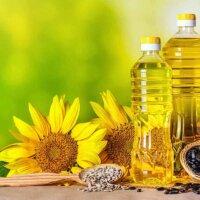 Sonnenblumenkerne und Sonnenblumenöl