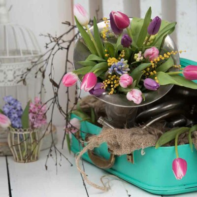 Deko mit Tulpen