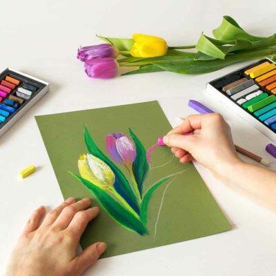 Tulpen zeichnen ist nicht schwer
