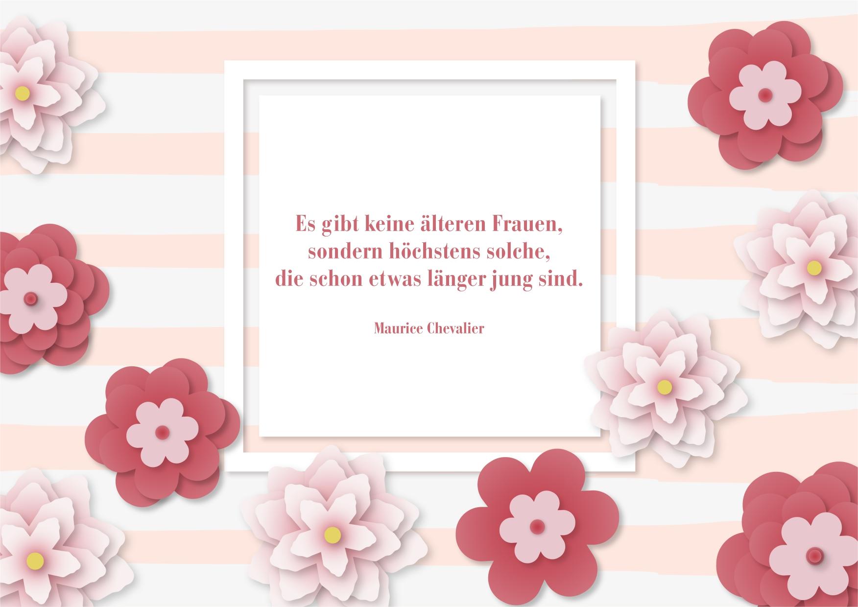 Geburtstagskarte mit Blüten und Wünschen