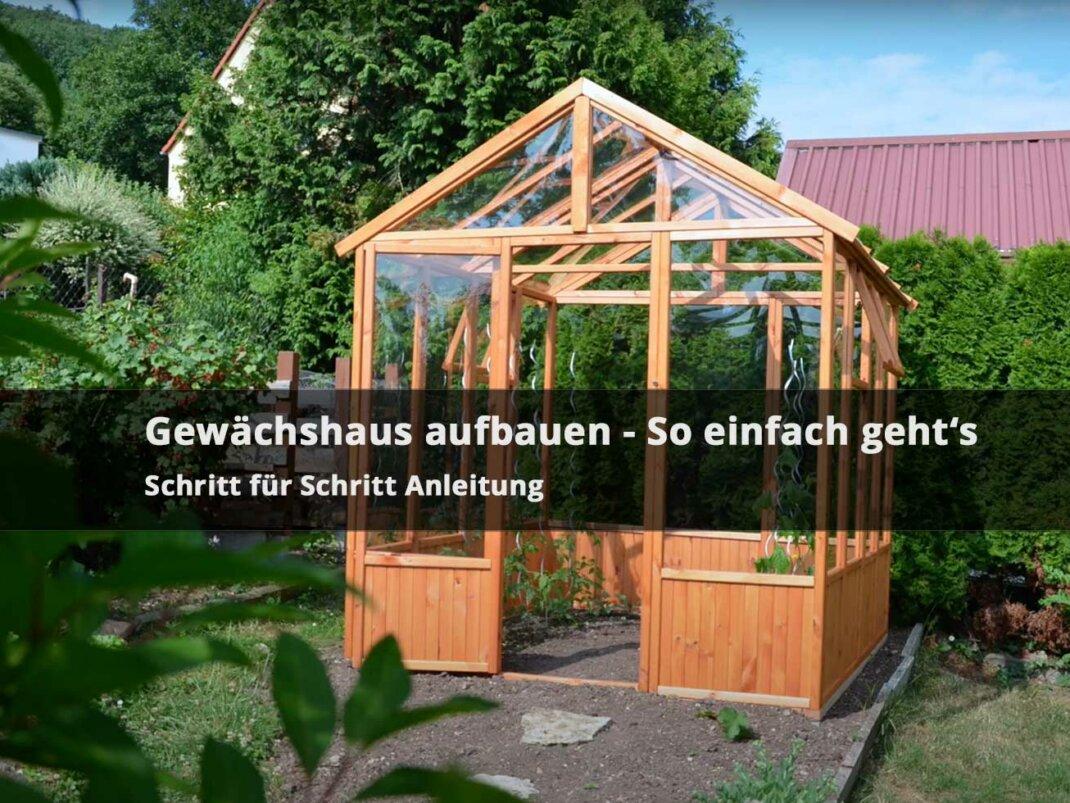 Gewächshaus selber bauen & kaufen – Modelle in klein & groß  aus Glas  Folie & Co.