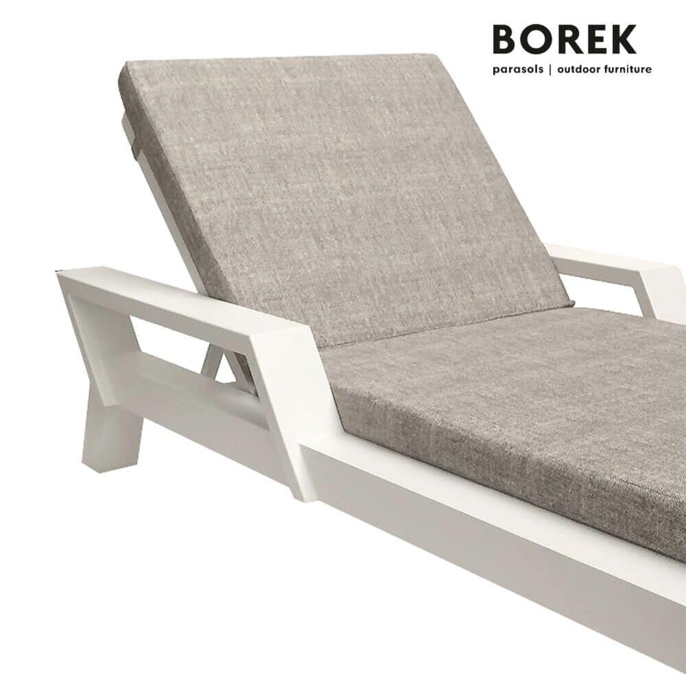 garten liegestuhl viking wei beige. Black Bedroom Furniture Sets. Home Design Ideas