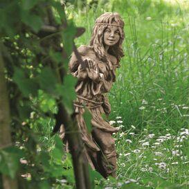 Schildkr/öte Figur Garten Skulptur Deko Gartenfigur Gro/ß F/ür Au/ßen Innen Zum Stellen ca 15x12x8cm Gr/ün Braun Bambelaa