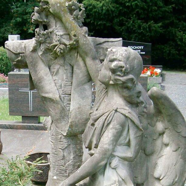 antik grabengel skulptur historische alte original engel. Black Bedroom Furniture Sets. Home Design Ideas
