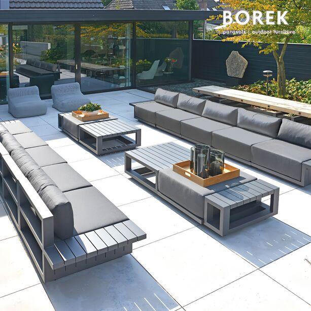 Borek Gartenlounge Set XXL   Aluminium   Modern   Gartensofa U0026 Tisch    Murcia Gartenlounge ...