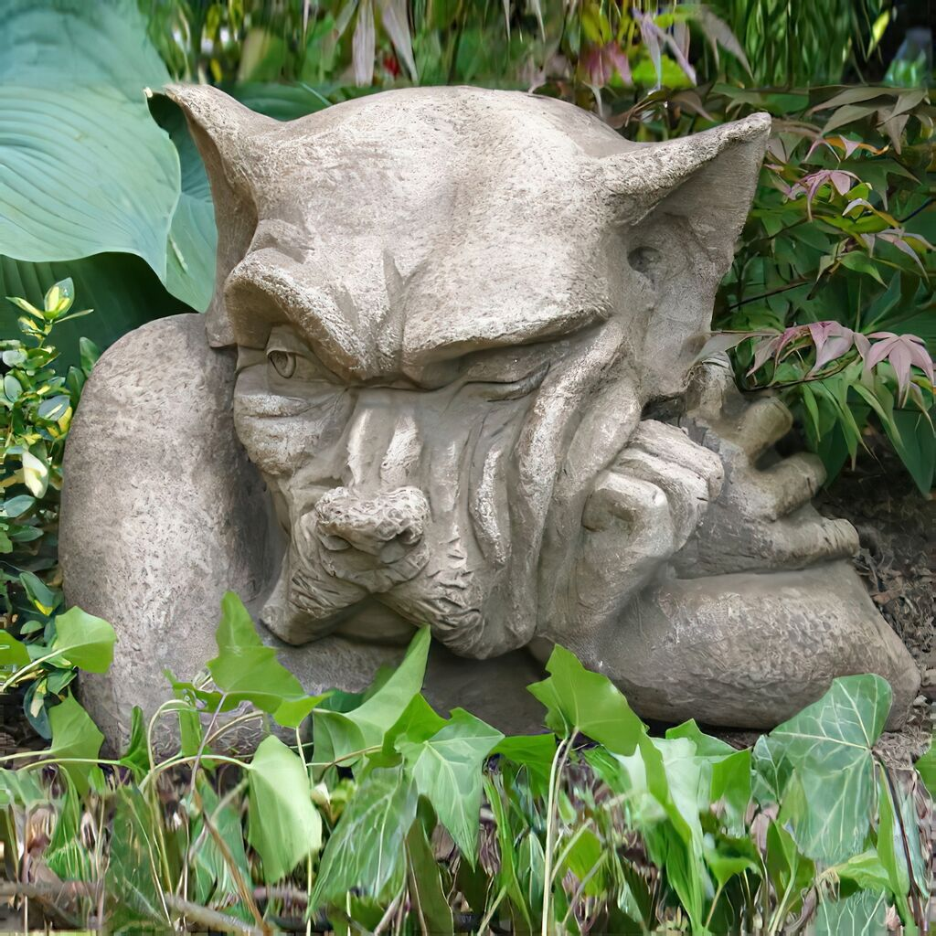 mauerhocker gargoyle gartenfigur arthur. Black Bedroom Furniture Sets. Home Design Ideas