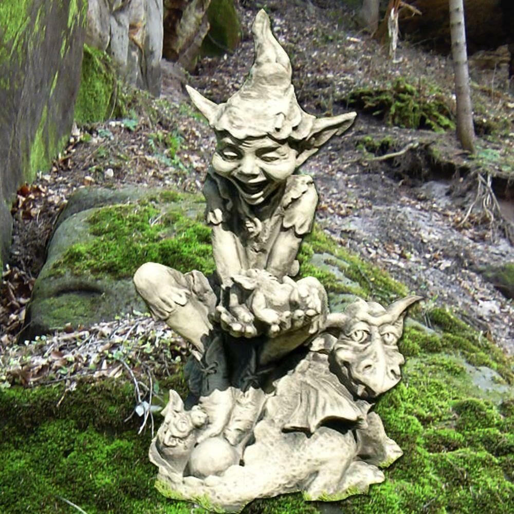 Garten steinfigur mit gnom dudley - Steinfiguren garten gebraucht ...