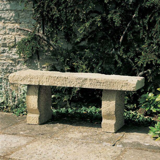Rustikale Garten Steinbank - Genua • Gartentraum.de