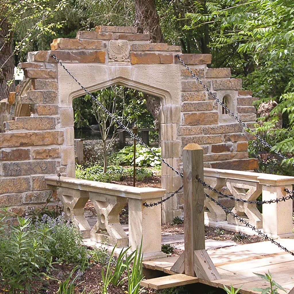gartenruine mit zugbr cke langford bridge. Black Bedroom Furniture Sets. Home Design Ideas