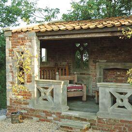 Gartenruine aus Steinguss - Farrington Lodge