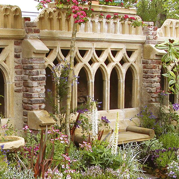 antike deko garten ruine newcastle cloister. Black Bedroom Furniture Sets. Home Design Ideas