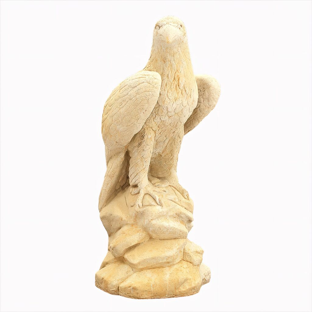 Große Antik Skulptur Adler aus Steinguss Massimo