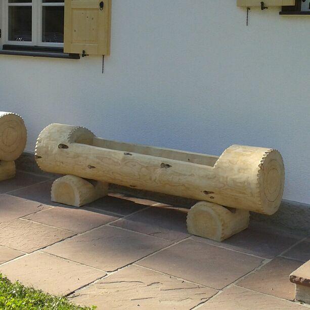 Alm Hütten Holztrog Garten Brunnen Rund aus Holz - \