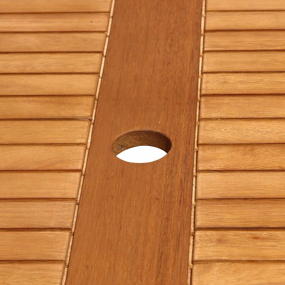 Schoner Gartentisch Angophora Holz Mit Schirmloch Gartentraum De