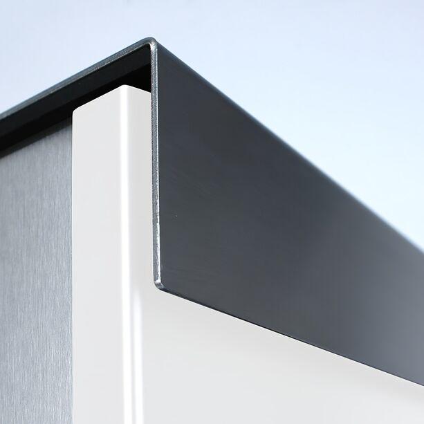 Edelstahl Design Briefkasten in Wunschfarbe • Gartentraum.de