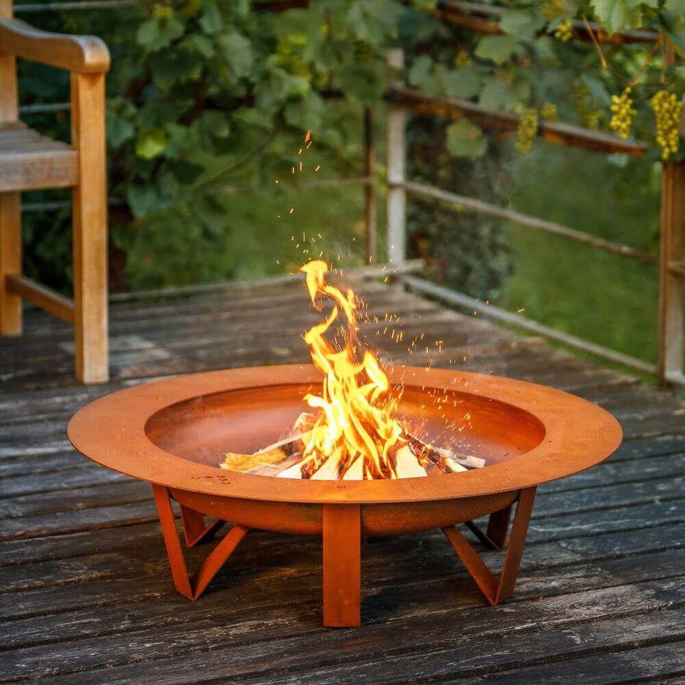 Feuerschale 80cm Aus Stahl Mit Grill Optional Gartentraum De