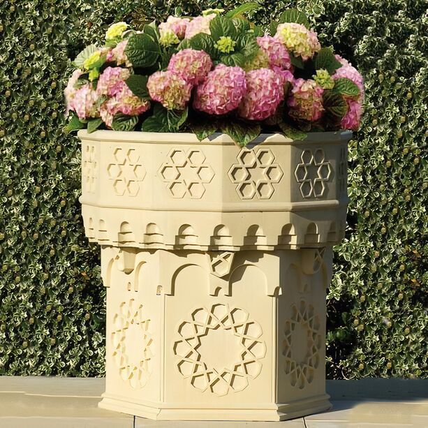 Großer Garten Pflanzkübel antik XXL - Alhambra • Gartentraum.de