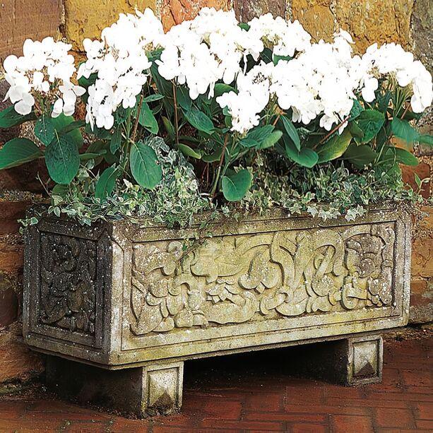 Antik Stein Blumenkübel groß XXL - Coley Park • Gartentraum.de