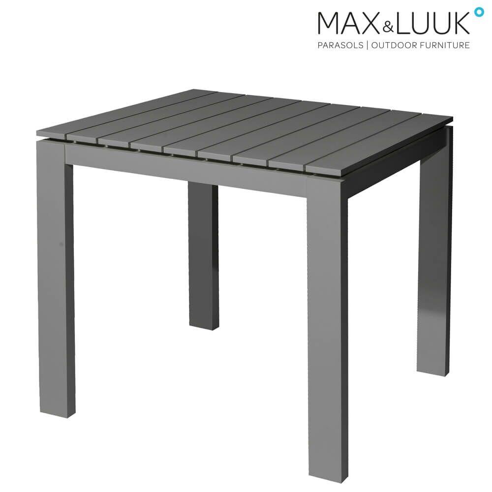 Quadratischer Gartentisch Aus Aluminium Gartentraum De