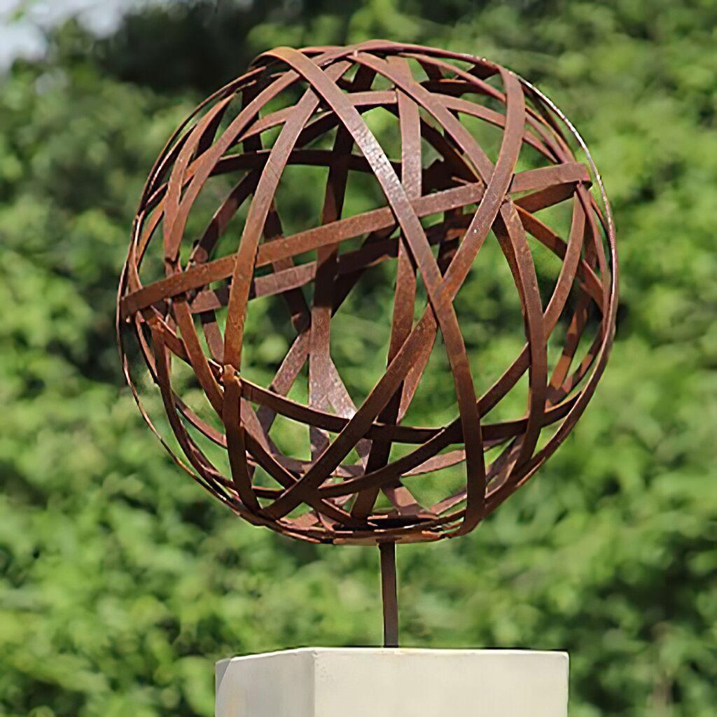 Garten Deko Kugel Golong aus Metall Gartentraum de ~ 14002431_Deko Kugel Garten Beleuchtet
