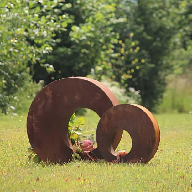 Moderne Metall Gartenskulptur   Rundes Design   Classico Circum ...