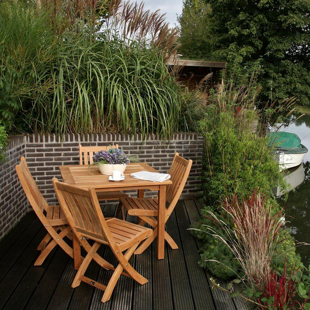 Eckiger Garten Holztisch - modern - Teakholz - Ruby Gartentisch
