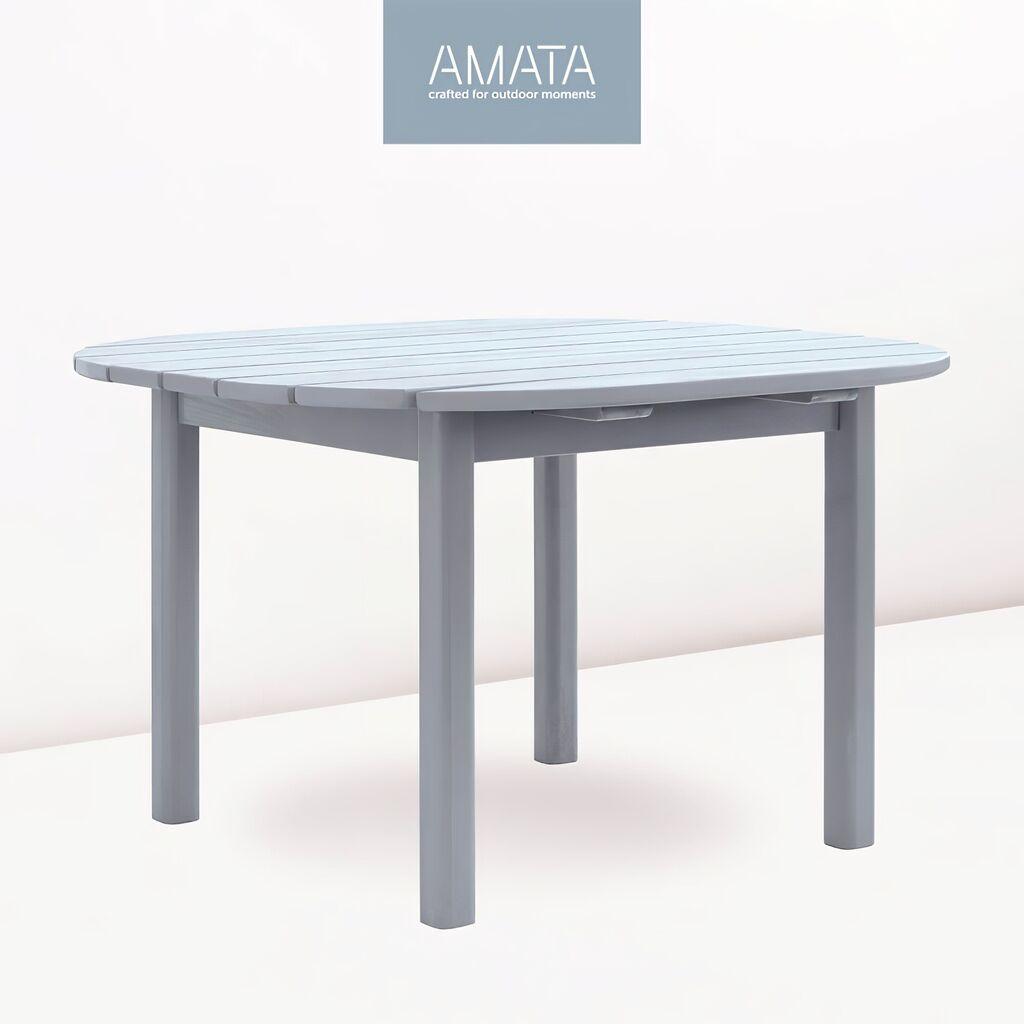 Runder Gartentisch Aus Kiefernholz Amata