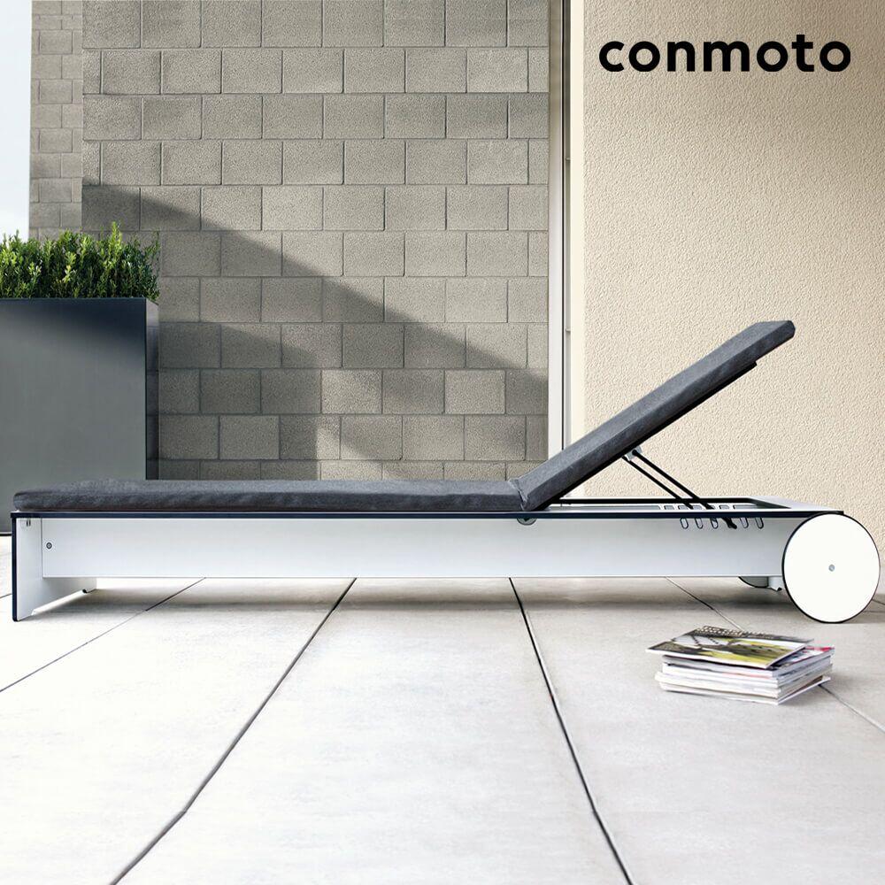hpl sonnenliege riva mit rollen. Black Bedroom Furniture Sets. Home Design Ideas