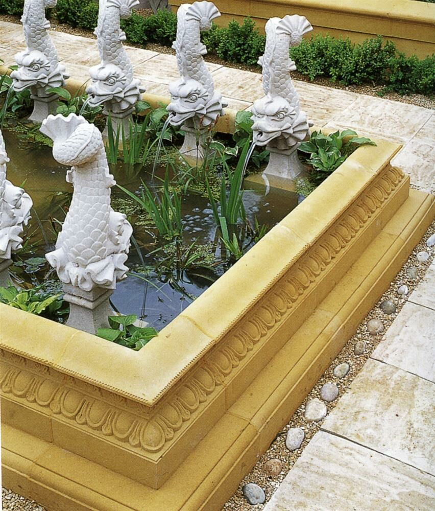 Garten Wasserspeier Stein Fisch Arion