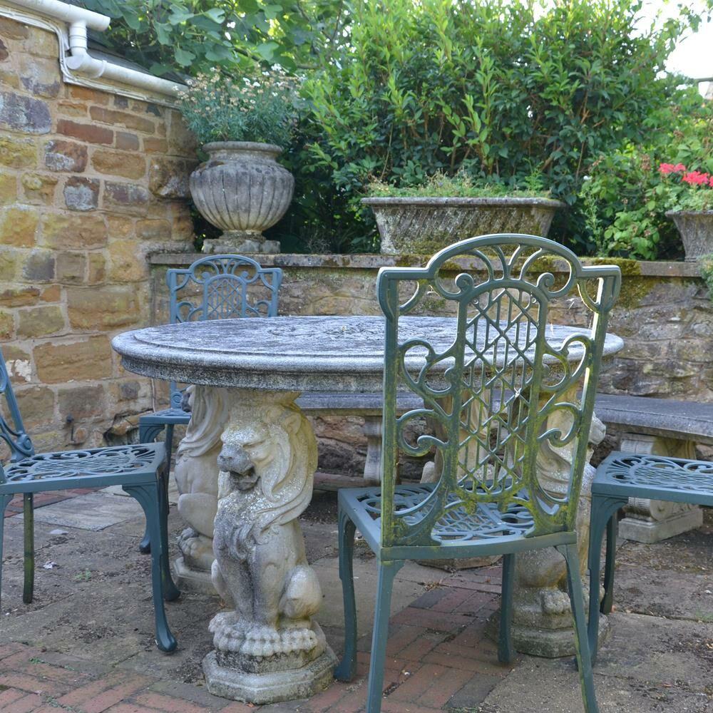 Antik Stein Gartentisch Rund Alderley Park Gartentraum De