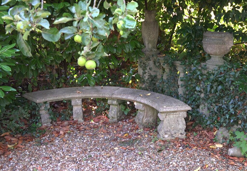 Antik garten steinbank halbrund oxford park - Steinbank garten ...