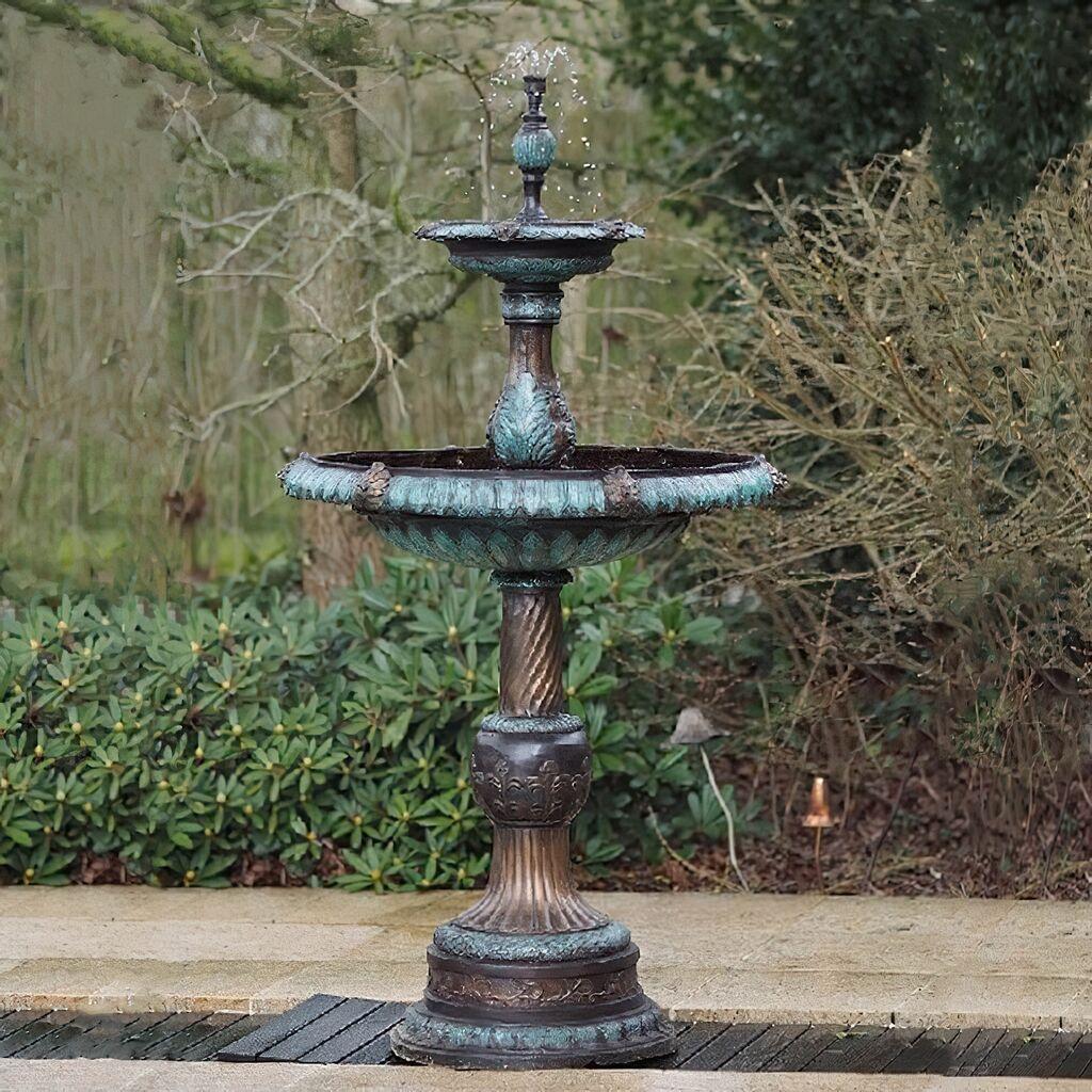 Kaskaden Sprinbrunnen aus Bronze - antik - Thronos